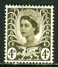 Great Britain, Region, Wales; 1968: Sc. # 9: */MH Single Stamp