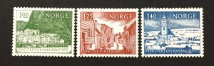 Norway 1975  #651-3, Architectural Heritage, Unused/MH.