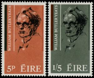 ✔️ IRELAND 1965 - WILLIAM BUTLER YEATS - SC. 200/201 MNH OG [IR0172]