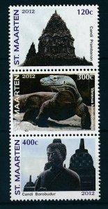 [SM082] St. Martin Maarten 2012 Jakarta World Stamp Expo Komodo DragonMNH
