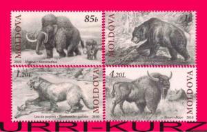 MOLDOVA 2010 Ancient Prehistoric Fauna Lost Animals Mammoth 4v Mi 719-722 MNH