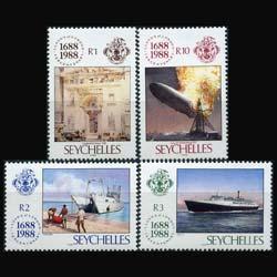 SEYCHELLES 1988 - Scott# 649-52 Lloyds Set of 4 NH