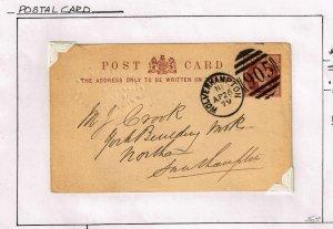 UK STAMP 1879 POSTAL CARD USED
