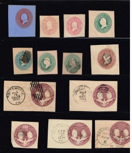 US STAMP REVENUE  BOB # CUT SQ STAMPS COLLECTION LOT