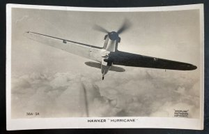 1941 England RPPC Postcard Cover To Scotland Hawker Hurricane Airplane