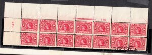 #370 Top plate block of 14,Fine+ NH!