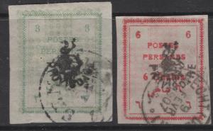 """Iran - Persia 1906 Imperf """"Provisoire"""" OVP Pr. Scott 424-5 F"""