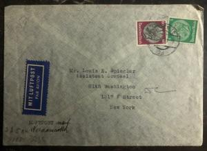 1941 Vienna Censored Germany Censored Cover to HIAS Washington In New York