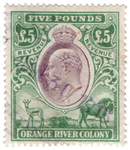 (I.B) Orange River Colony Revenue : Duty Stamp £5