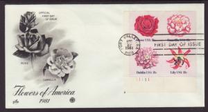 US 1879a Flowers P/B 1981 PCS Monarch U/A FDC