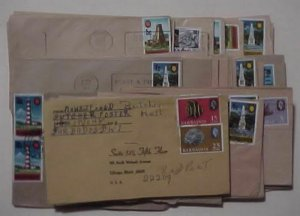 BARBADOS   73 SMALL COVERS 1970's INCLUDE REGISTERED