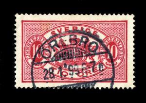 SUÈDE / SWEDEN 1899 ÖREBRO (Type 46) on MiD5Bd 10Öre OFFICIAL