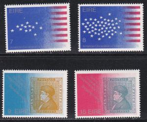 Ireland # 389-392 & 392b, U.S. Bicentennial,  NH, 1/2 Cat.