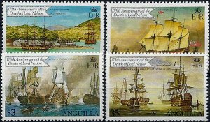1981 Anguilla Sailing Ships, Paintings, Lord Nelson complete set VFMNH! LOOK!