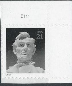 US 4860 (mnh, w/plate #) 21¢ Lincoln