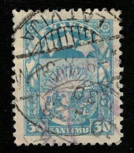 1927-1933 Rising Sun, Latvia, 30 santimu (Т-8359)