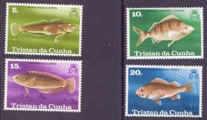 Tristan da Cunha  #243-246  1978  MNH fishes