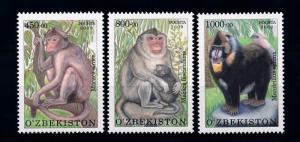 Uzbekistan MNH 841-3 Fauna Monkeys 2010 SCV 7.50