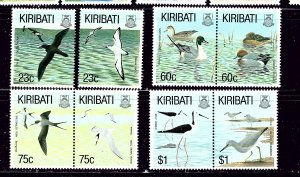 Kiribati 599-606 MNH 1993 Birds (1st pair separated others intact)