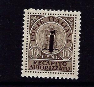 Italian Socialist Republic EY1 Hinged 1944 issue