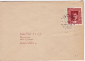 Liechtenstein 1950 Vaduz to Binningen  stamps cover  R20522