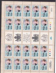 TONGA ^^^^^^  sc# 611  Rarer  MNH  BLOCK of 25 Queen MOTHER $ 243.75@can517tonga