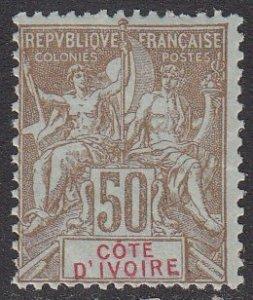Ivory Coast 15 MVLH CV $40.00