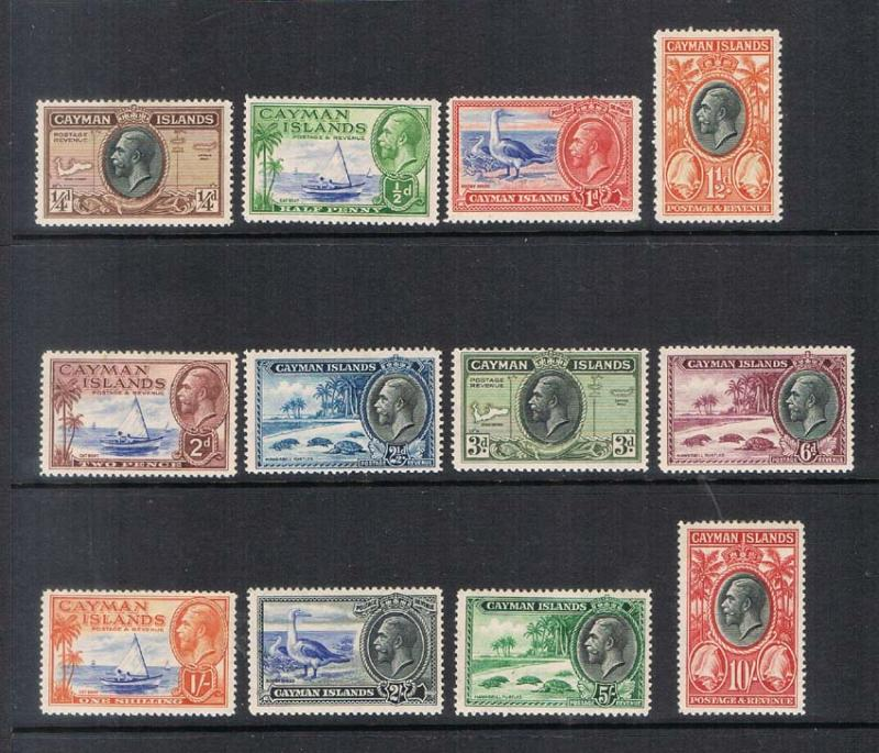 Cayman Islands 1935 KGV SG 96-107 set of 12 MLH