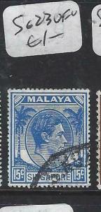 SINGAPORE    (P0906B)  KGVI  15C   SG. 23   VFU