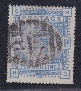 GB114) Great Britain 1883 10/- Ultramarine on Blued paper