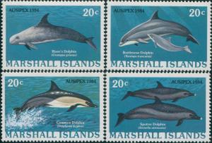 Marshall Islands 1984 SG25-28 Dolphins set MNH