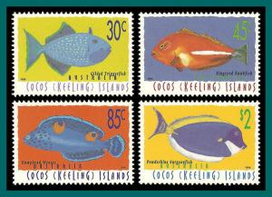 Cocos 1996 Fish , MNH  305-315,SG333-SG343