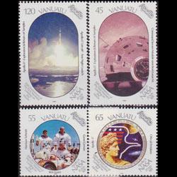 VANUATU 1989 - Scott# 507-10 Moon Landing Set of 4 NH