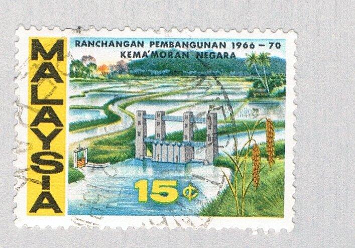 Malaysia Dam yellow 15c (AP133401)