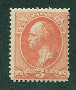 214 MNH,  3c. Washington,  scv: $200