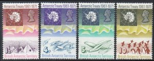 British Antarctic Territory 1971 Tenth Anniversary of Antarctic Treaty MNH