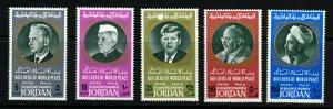 JORDAN 1967 Builders of World Peace Set SG 775 to SG 779 MINT