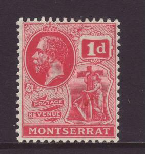 1916 Montserrat 1d Wmk Mult Crown CA Carmine-Red