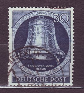 J23180 JLstamps 1951-2 berlin germany hv of set used #9n78 bell clapper right