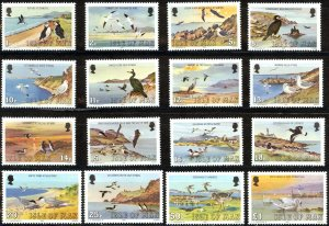 Isle of Man 1983, Birds  MNH Set   # 224-239