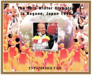 Turkmenistan 1998 Nagano Olympics/King Juan Carlos Souvenir Sheet Perforated MNH