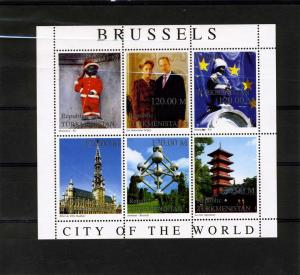 Turkmenistan 1999 Brussels City of The World (6) Perforated