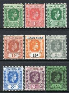 Leeward Islands 1938 KGVI p/set (9v.) mint