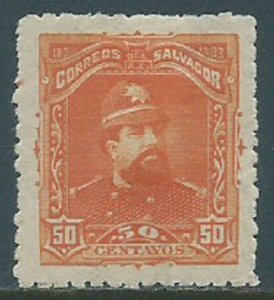 El Salvador, Sc #84, 50c MH