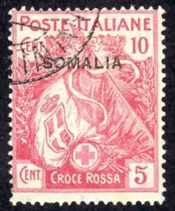 Somalia Sc# B1 Used (a) 1916 10c + 5c Semi Postal Overprint