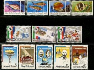 NORFOLK IS. Sc#339//381 1984-1986 Seven Complete Sets OG Mint NH