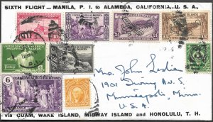 Doyle's_Stamps: China Clipper Cover w/Amelia Earhart Navigator's Signature