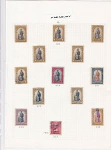paraguay stamps page ref 16498