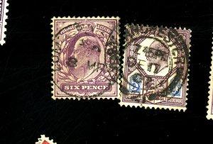 Graet Britain #134-5 Used FVF Cat$45