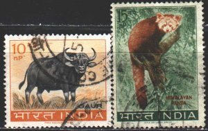 India. 1963. 358-59 from the series. Fauna of india. USED.